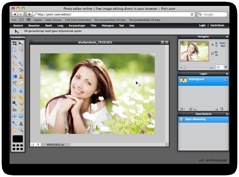 Pixlr foto's bewerken