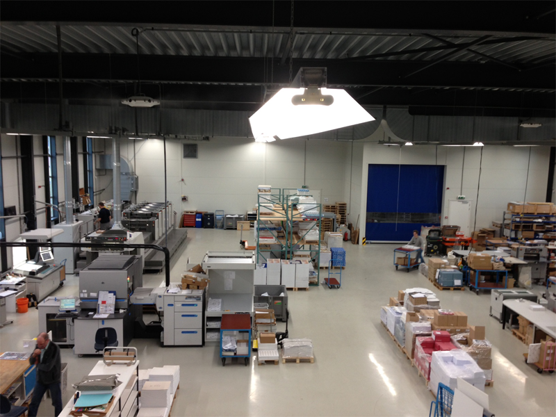 Productiehal drukkerij